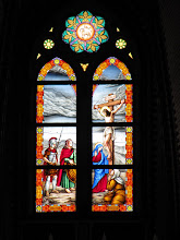 Photo: Year 2 Day 54 - Stained Window in St. Mark's Cathedral in Yangon