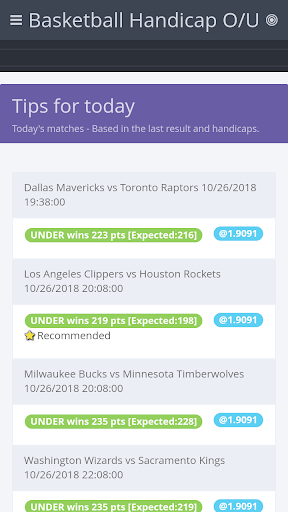 Download BasketBall Handicap o/u MOD APK 1
