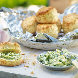 Three-cheese Scones With Herb Butter.