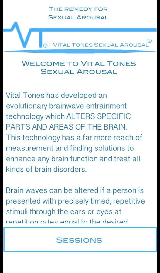 Vital Tones Sexual Arousal Pro- screenshot