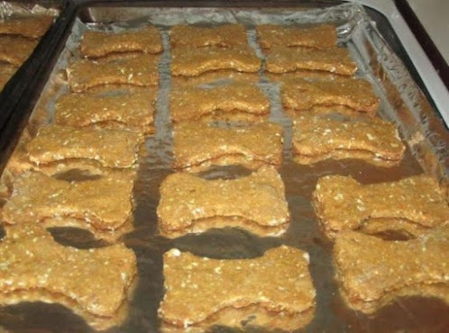Sweet Potato and Oatmeal Dog Biscuits.
