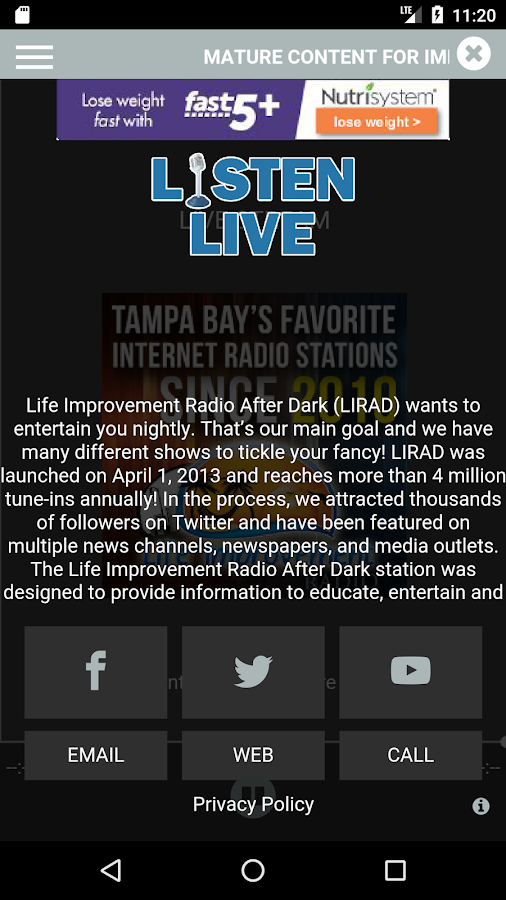 LIR After Dark- screenshot