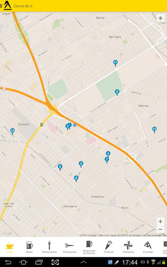Paginas amarillas argentina aplicaciones de android en for Paginas de espectaculos argentina