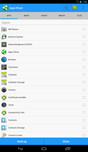 Share Apps and Files screenshot