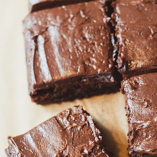Fudgy Brownies With Chocolate Cream Cheese Frosting.