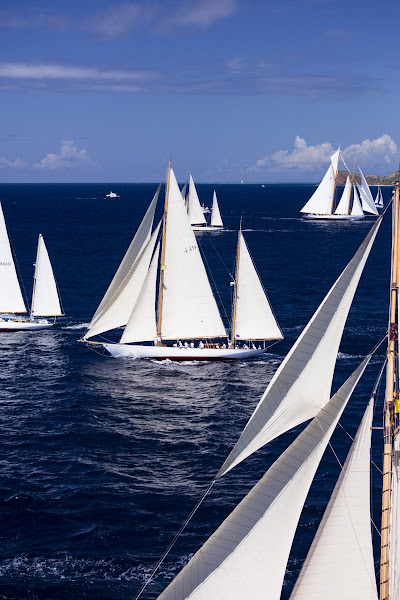 Photo: Eilean sailing in the Antigua Classic Yacht Regatta, Butterfly Race.