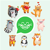 Cute Animal Stickers for WhatsApp, WAStickerApps