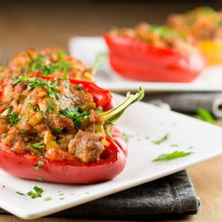 Easy Italian Sausage Stuffed Peppers.