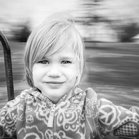 Spin Faster by Tiona Anglin Appel - Babies & Children Child Portraits ( child, black and white, play, portrait )