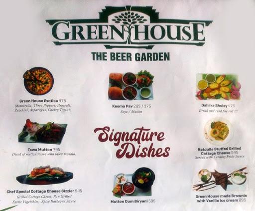 Green House - The Beer Garden menu 2