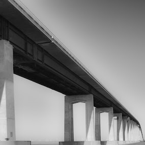 Antioch/Oakley Bridge in California by Wayne Louie - Buildings & Architecture Bridges & Suspended Structures ( d7000 sigma 17-50mm lightroom silver efex )