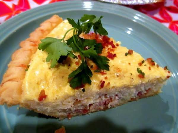 ~ Swiss Cheese & Bacon Pie ~ Cassies Recipe