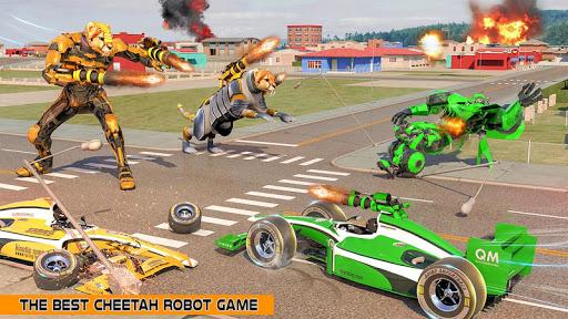 Cheetah Robot Car Transformation Formula Car Robot filehippodl screenshot 12