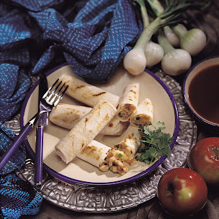Pork Loin Burrito with Apple and Chipotle Sauce.