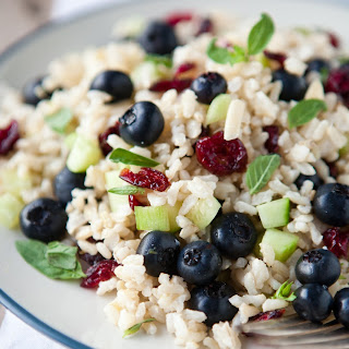 Brown Rice and Blueberry Salad