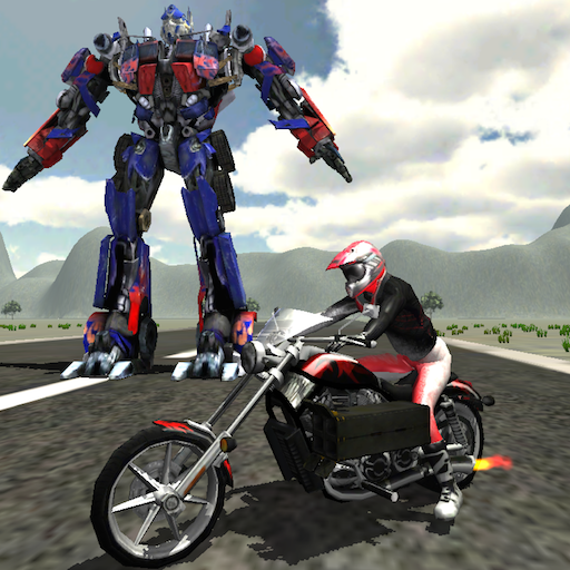 Robots Vs Bike War : Real Battle Warriors Racing