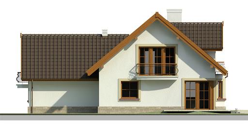 Dom przy Cyprysowej 15 - Elewacja tylna