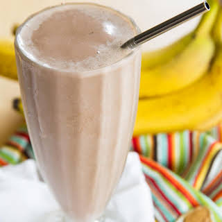 Funky Monkey Healthy Chocolate Peanut Butter Banana Smoothie.