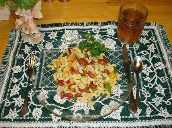 Elbow Macaroni And Sausage Salad