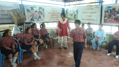 Photo: Children of Mentaid practicing for the Fashion Show segment of Yeh Hai Duniya Meri Jaan with Rajesh and Bhavna for World Disability Day 2014.