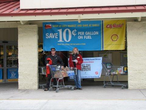 Photo: 2011 Colorado Mountain Express Fill the Van Food Drive