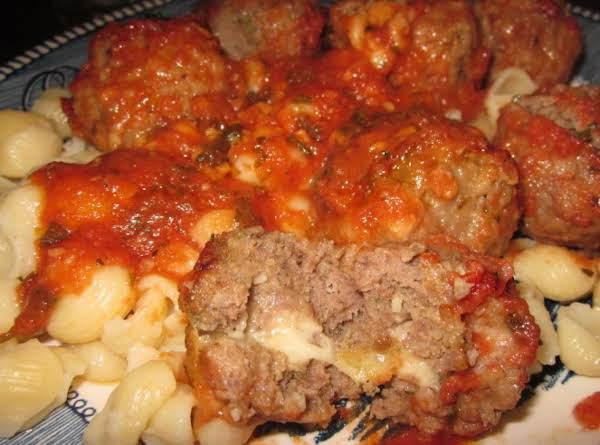 Mozzarella Stuffed Meat Balls Recipe
