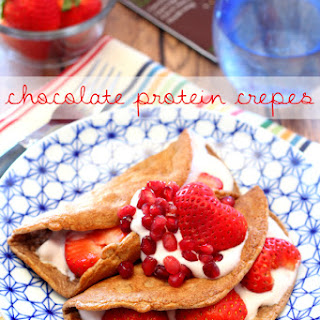 Chocolate Protein Crepes.