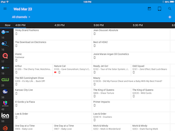 Create a custom guide in the Google Fiber TV app (iOS).