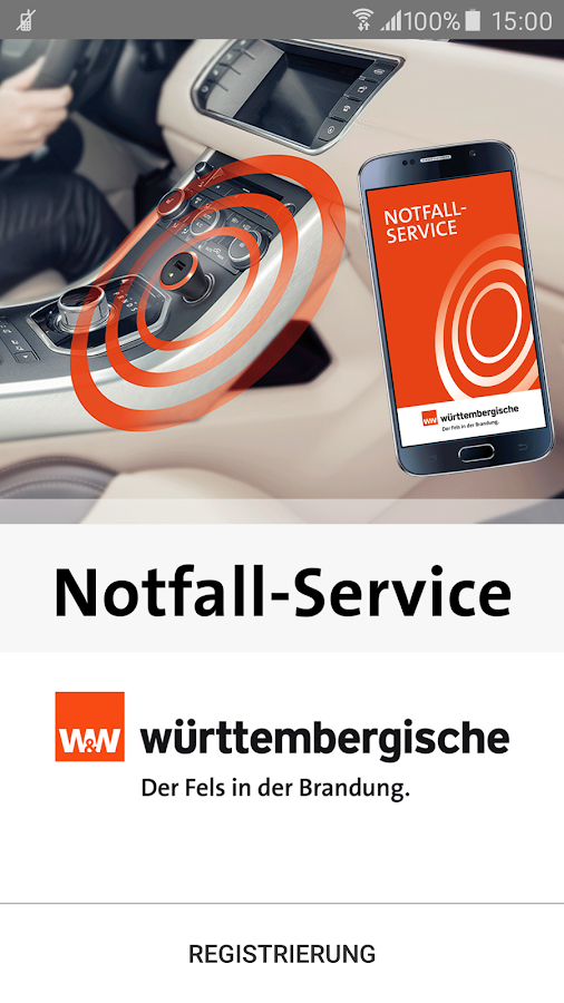 Notfall-Service – Screenshot