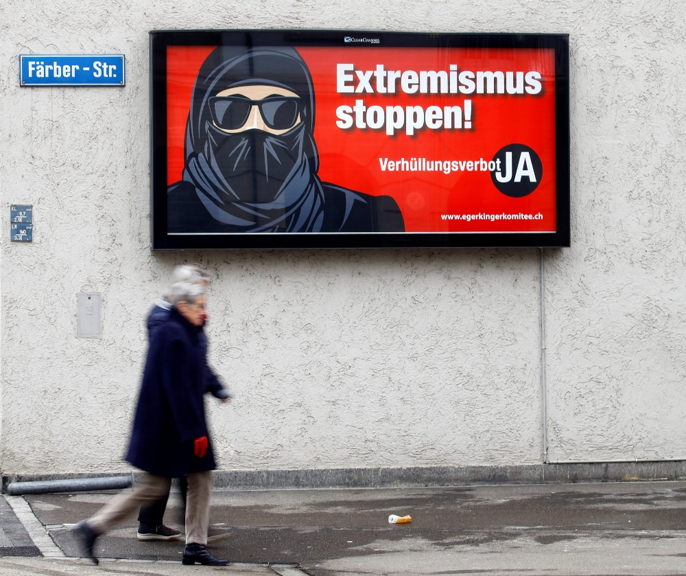 Swiss agree to outlaw facial coverings in 'burka ban' vote