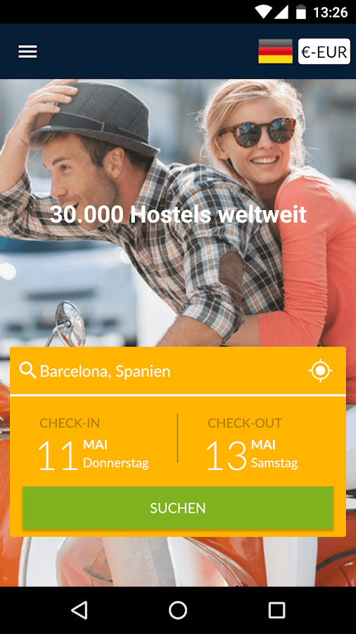 Herbergen.com - Hostels – Screenshot
