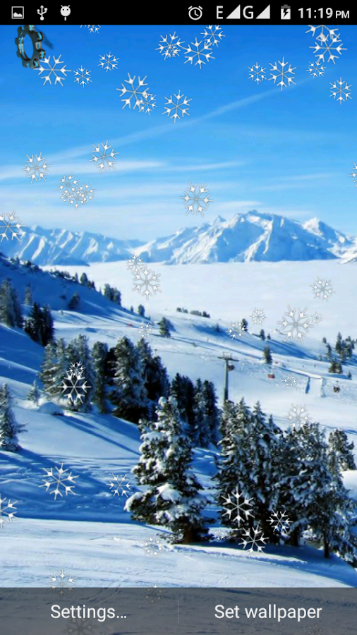 wallpaper live snowfall is a brand new winter wallpaper with gorgeous