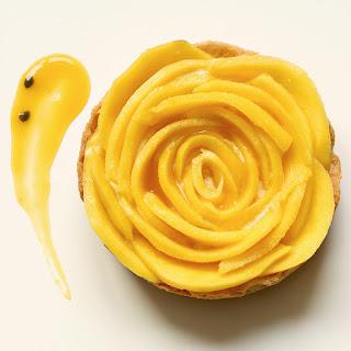 Mango Tart with Passion Fruit Yogurt Mousse
