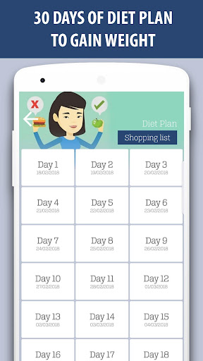 Weight gain: diet and exercises in 30 days 2.0 screenshots {n} 2