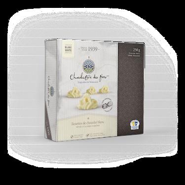 Chocolat Rosettes de chocolat blanc Boîtes