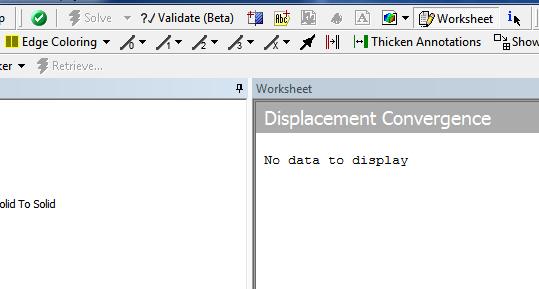 ANSYS Если вы выберете результат, не доступный в данном расчёте, вы получите сообщение «No data to display» (нет данных для отображения)