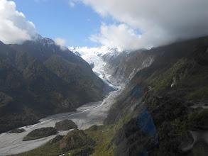 Photo: Glaciar Franz Josef desde el helicóptero
