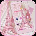 Pink Theme Eiffel Tower Love icon