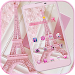 Pink Theme Eiffel Tower Love icon