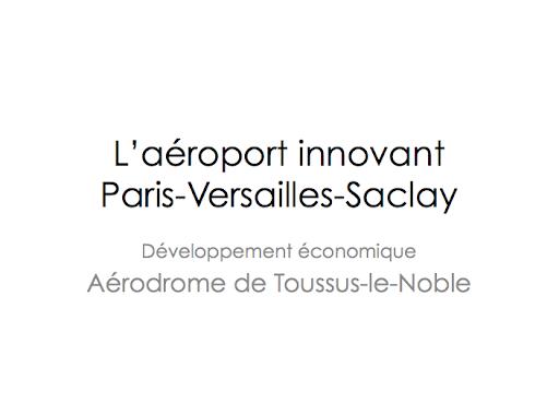 Aéroport innovant Paris-Versailles-Saclay