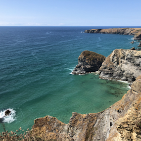 Gorgeous Bedruthan Steps in Cornwall by ADW Photography - Landscapes Waterscapes ( #landscape #waterscape #turquoise #sea #cliffs )