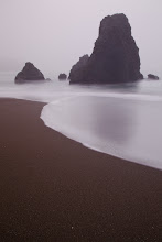 Photo: Rodeo Beach in the fog.