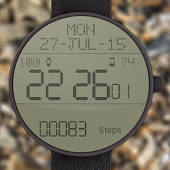 LCD Watch face with Steps