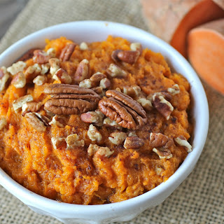Maple Mashed Sweet Potatoes