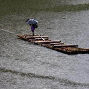 Rafting  by Madhu Soodanan - Transportation Other