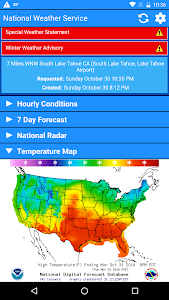 National Weather Service screenshot 2