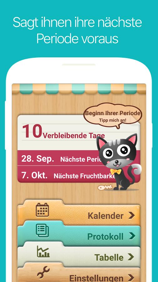 menstruations kalender zykluskalender kostenlos android apps auf google play. Black Bedroom Furniture Sets. Home Design Ideas