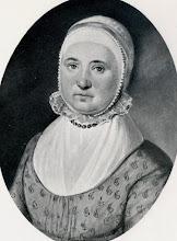 Photo: Egbertien Post (1756-1838), geboren en getogen te Winschoten, gehuwd met Berend Haitzema. Moeder van Jantien Haitzema. Zij is mijn oudgrootmoeder (dat is de grootmoeder van mijn betovergrootmoeder!). Naar een pasteltekening.