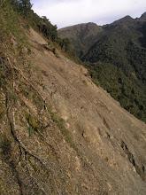 Photo: The big landslide
