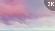White Pink Cirrus Clouds on Violet Sky - 15